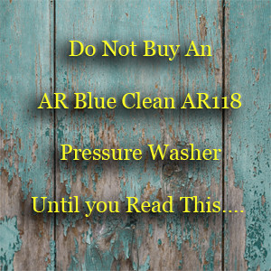 Ar Blue Clean Ar118 Pressure Washer Review Pressure Washer